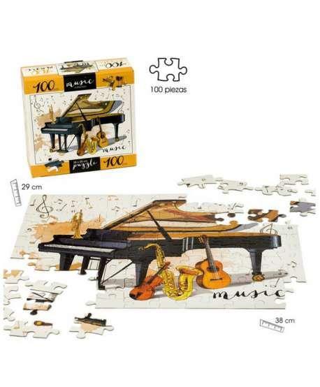 Puzzle de 100 piezas con instrumentos