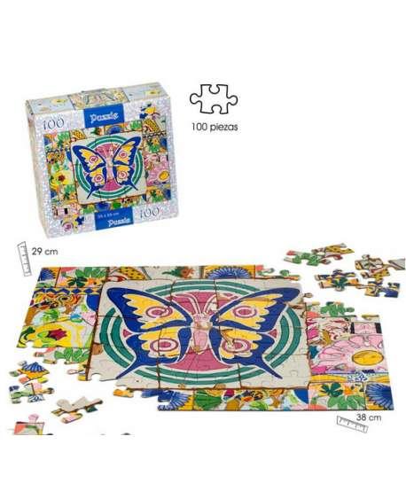 """Puzzle de 100 piezas """"mosaico"""" (mariposas)"""