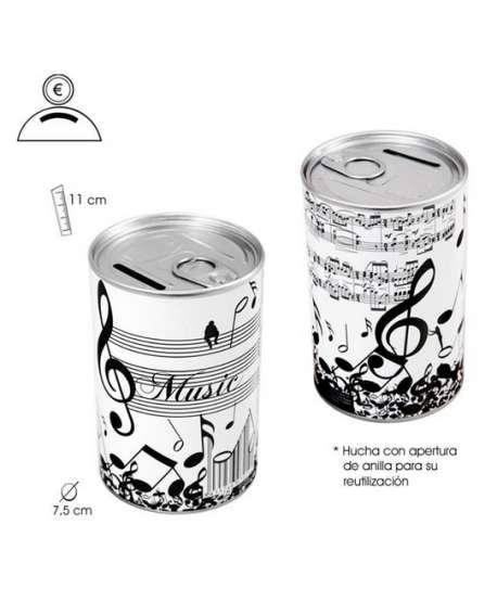 """Hucha """"música"""" (blanco y negro)"""