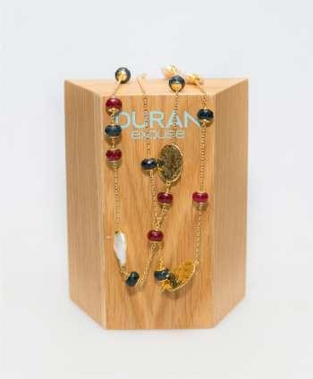 Collar perlas y jades