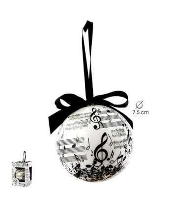 Bola de navidad de música (blanco y negrp)