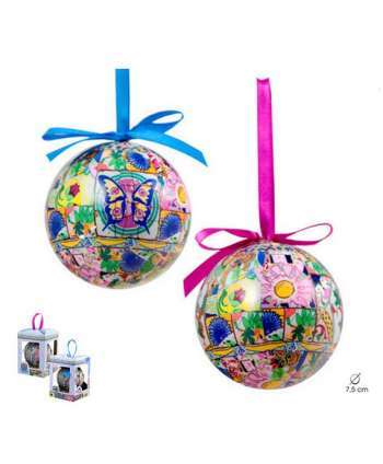 """Bola de navidad """"Mosaicos"""" (mariposas)"""