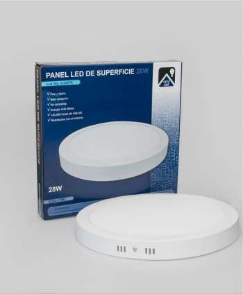 Panel de superficie Led 28w circular
