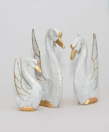 Cisnes Madera 16/21/24cm (Set 3)