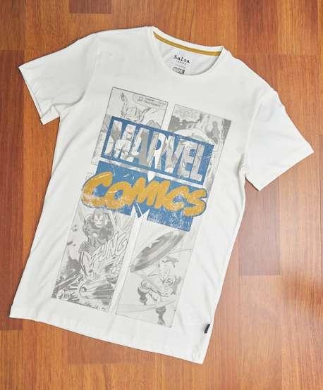 Camiseta Salsa Marvel Blanca