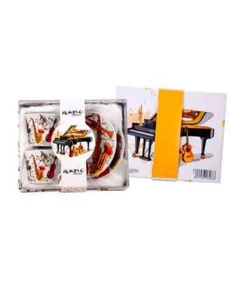 Set 2 tazas música instrumentos