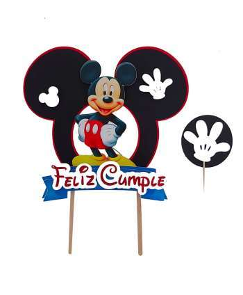 Cake Topper y mini topper de Mickey Mouse