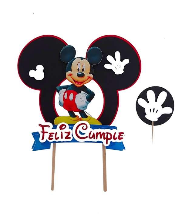 Cake Topper y mini topper de Mickey Mouse