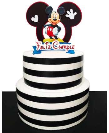 Decoración Feliz Cumpleaños para  tartas de cumpleaños Mickey Mouse