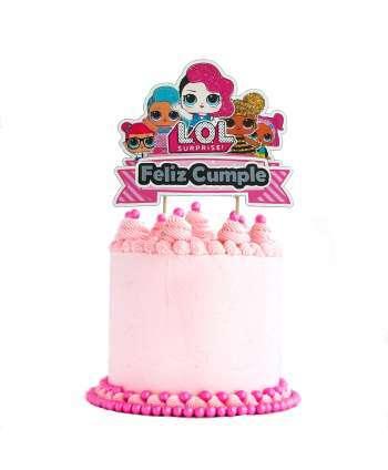 Topper tarta LOL sorpresa, Cake topper