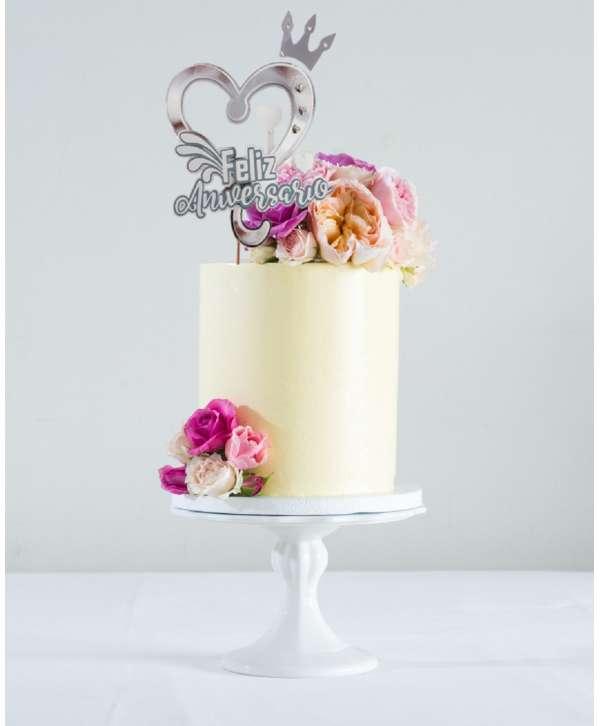 Decoración para tarta Feliz Aniversario
