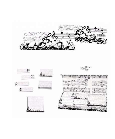 Caja de post-it música