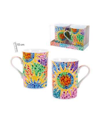 Set 2 mugs gaudí multicolor
