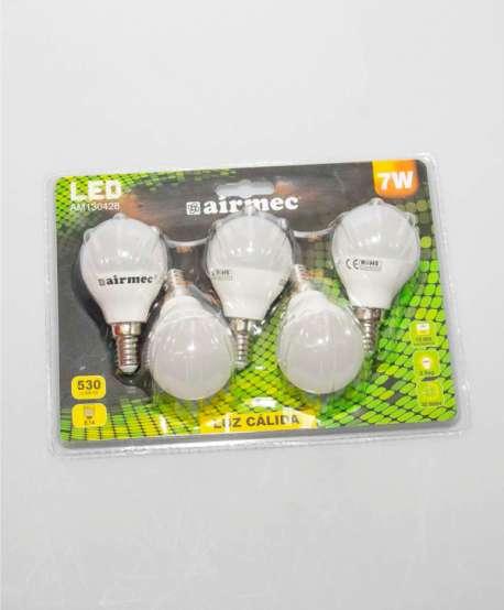Lámpara led esférica 7w 5 unidades