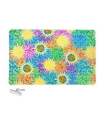 Mantel individual gaudí multicolor