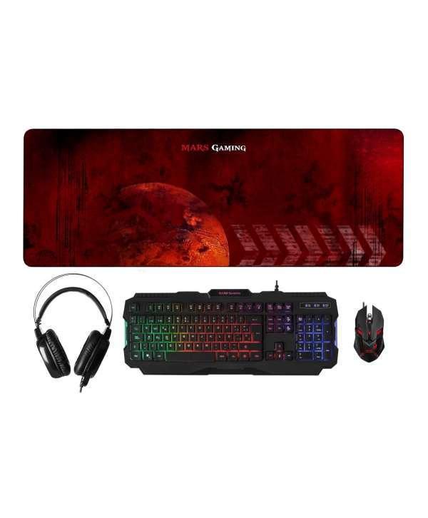 Teclado + Raton + Alfombrilla XXL Mars Gaming