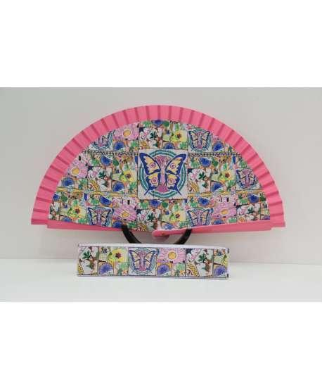 """Abanico """"mosaicos"""" (mariposas)"""