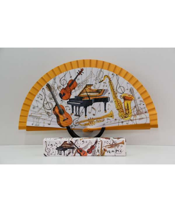 Abanico música con instrumentos