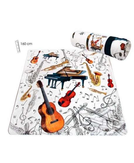 Manta música con instrumentos