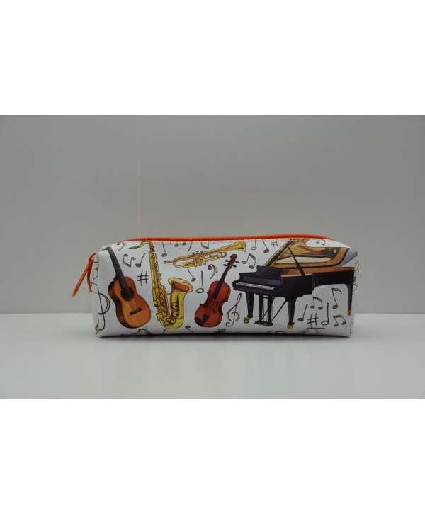 Estuche música con instrumentos