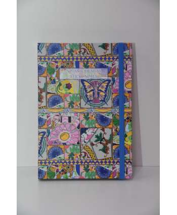 Agenda con post-it mosaico (mariposas)