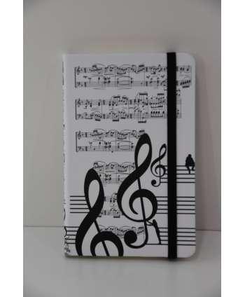 Agenda de música (blanco y negro)