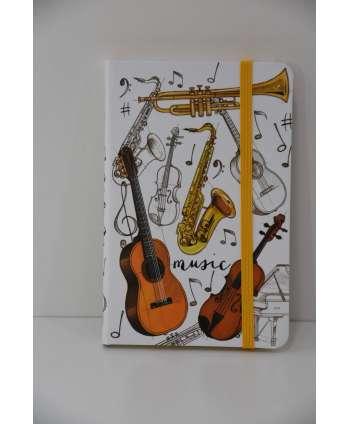 Agenda de música con instrumentos