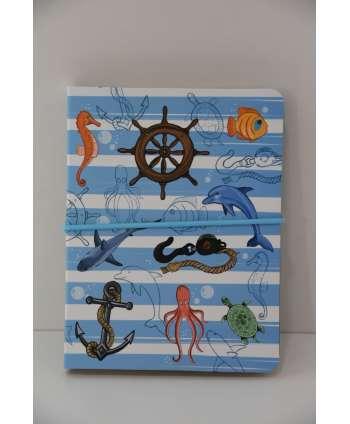 Cuaderno con motivos marinos