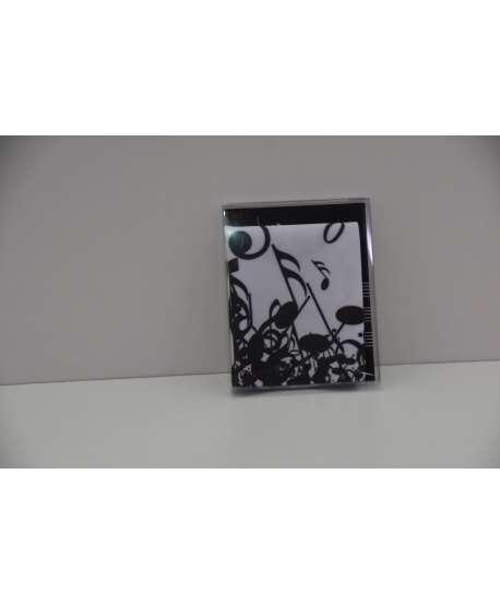 Paño de microfibra (gafas) de música blanco y negro