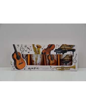 Set de 4 vasos de chupito de música con instrumentos