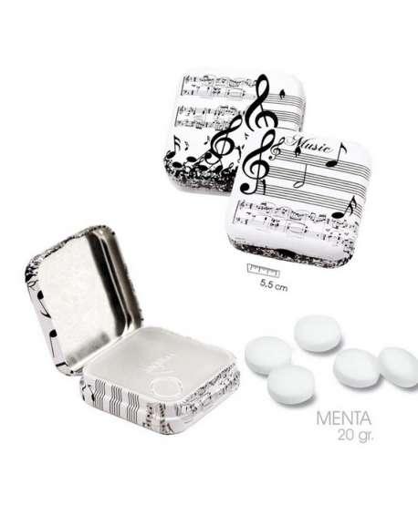 Pastillas de menta (sin azúcar) de música